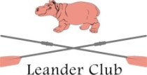 An image of the Leander Club badge with the pink hippo