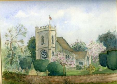 A picture of St Nicholas Church in May by Anthea Prescot