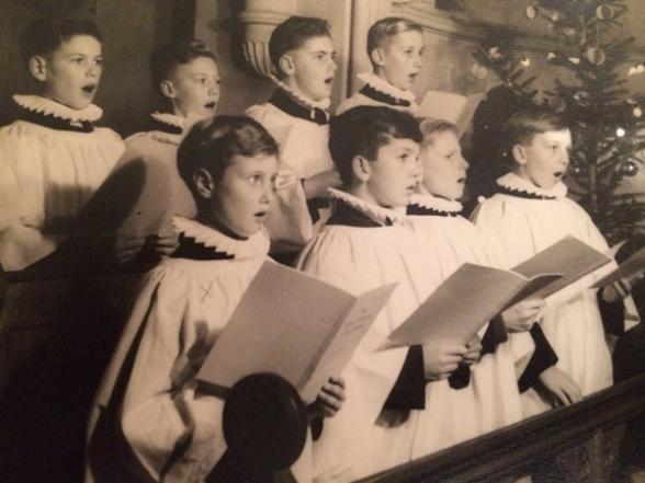 Choir singing at Remenham Church around 1959