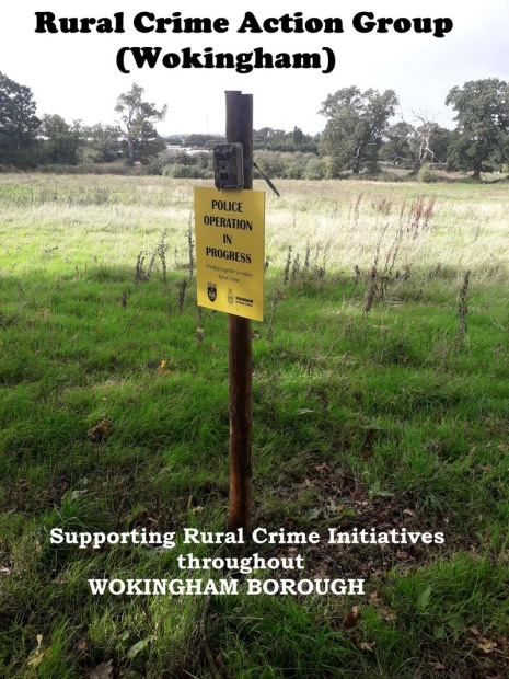 Poster for the Rural Crime Action Group Wokingham