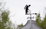 Weather vane on top of the pavilion