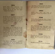 List of royal patronage in an old regatta booklet