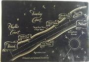 Copy of a diagram of the Regatta course