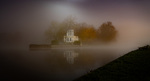 An image of Temple Island in the mist by Russell Cleaver