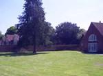 Parish Hall trees and grass area